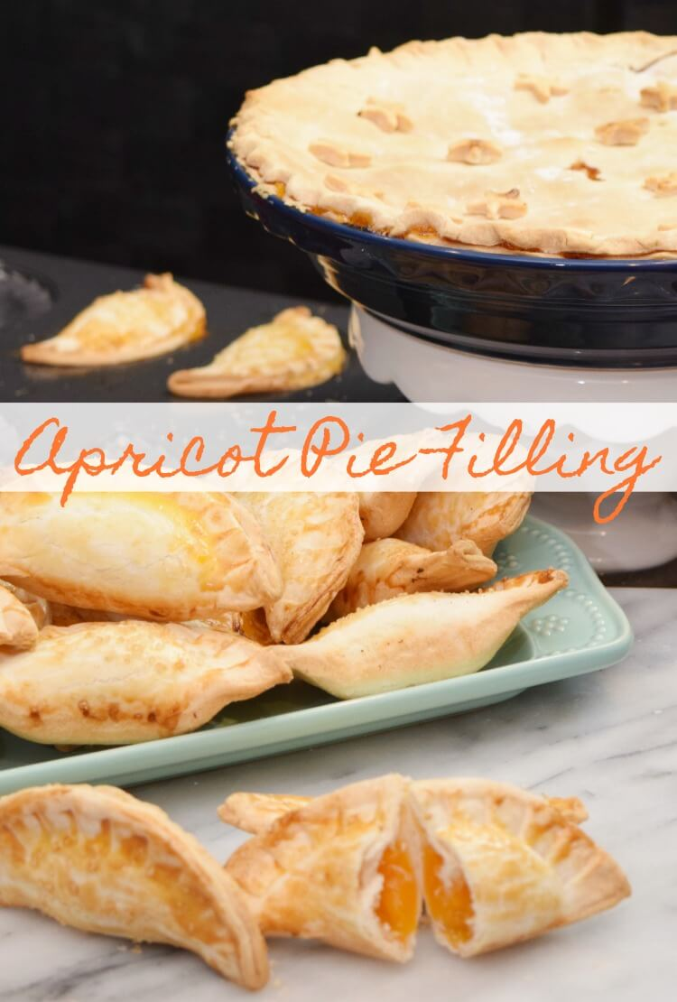 Apricot Pie filling can be used for regular pies and mini hand pies