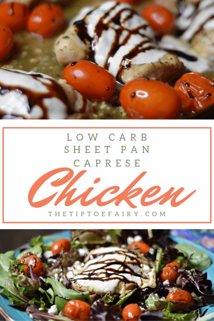 Low Carb Sheet Pan Caprese Chicken Thighs