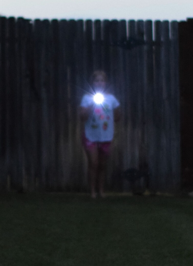 Firefly tag is one of our favorites. This girl is the firefly flashing her light for the game to begin.