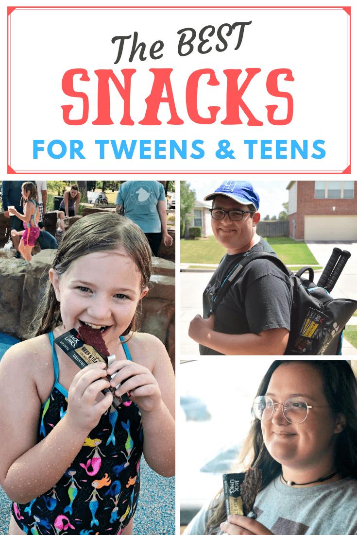 Collage of kids eating Jack Link's Bars.