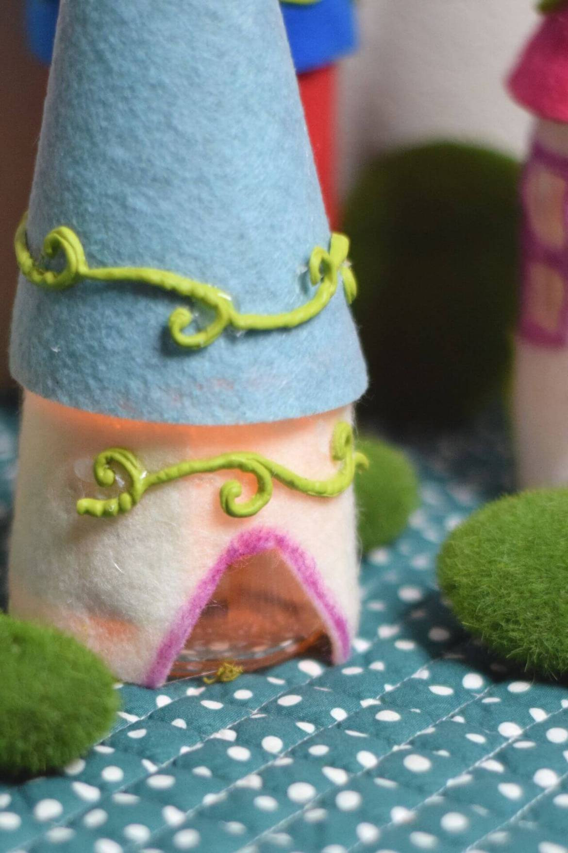 A close up of the entrance to the flickering fairy house.