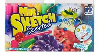 Mr. Sketch Scented Markers, Assorted Colors, 12 Pack