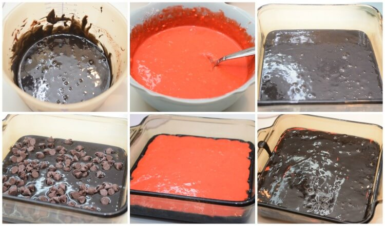 Collage for layering Brimstone Brownies