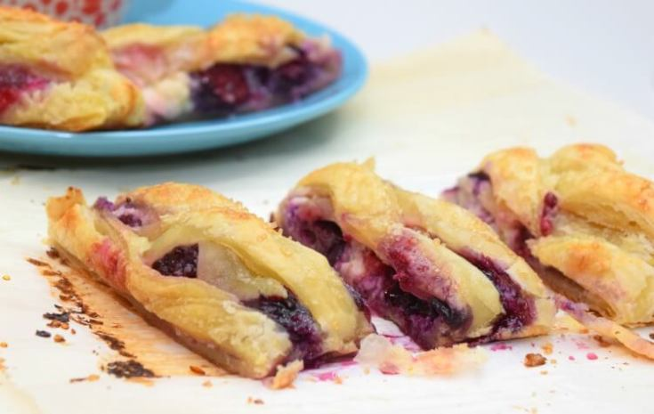 Braided Triple Berry Cheese Danish