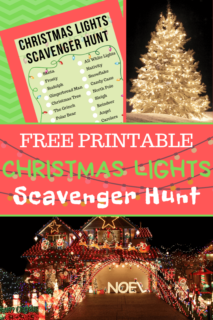 Do a Christmas Lights Scavenger Hunt with the kids on Christmas Eve Night!