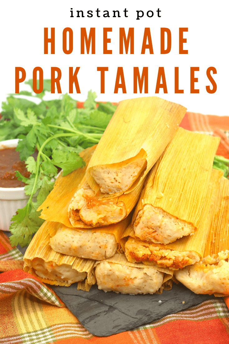 A pile of Homemade Pork Tamales in the Instant Pot