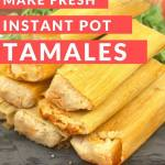Homemade Pork Tamales in the Instant Pot