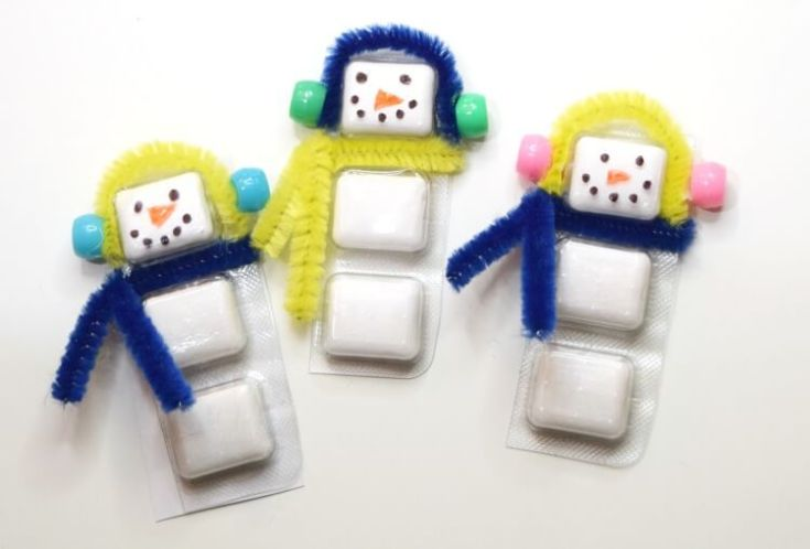 Trident Gum Snowman