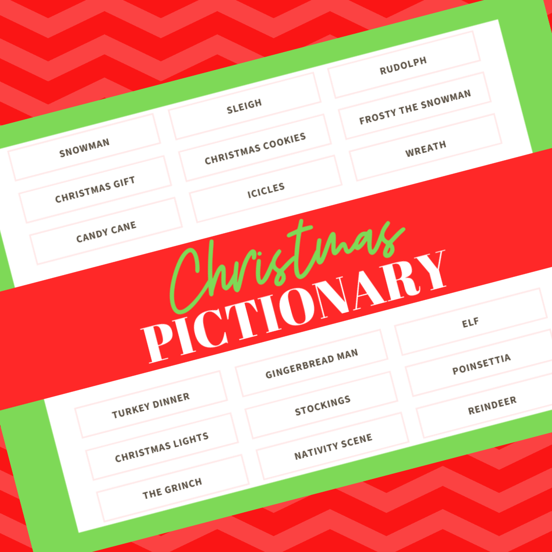 Free Printable Christmas Game Christmas Pictionary! | The ...