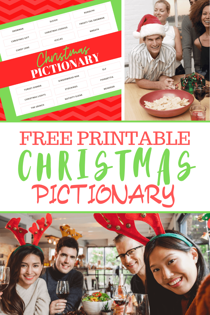 Come download this free printable Christmas Pictionary Game.