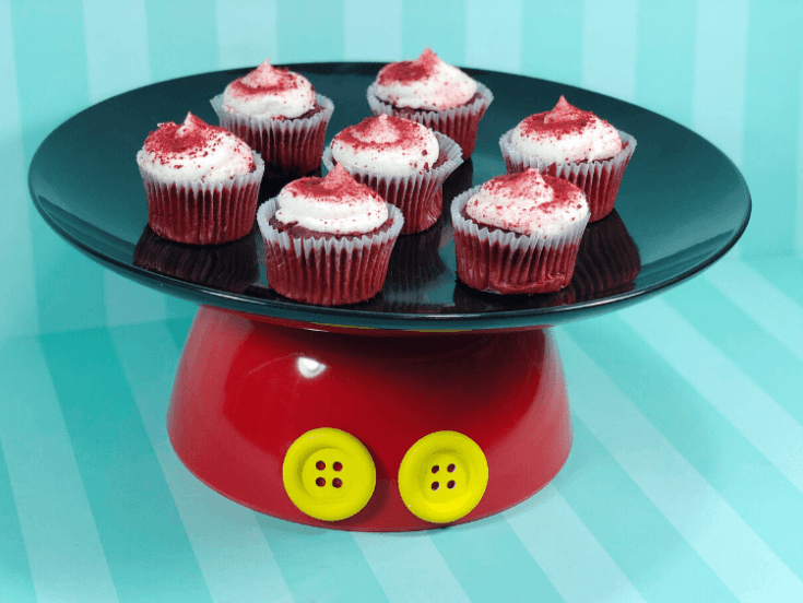 Dollar Store DIY Disney Mickey Mouse Cake Plate