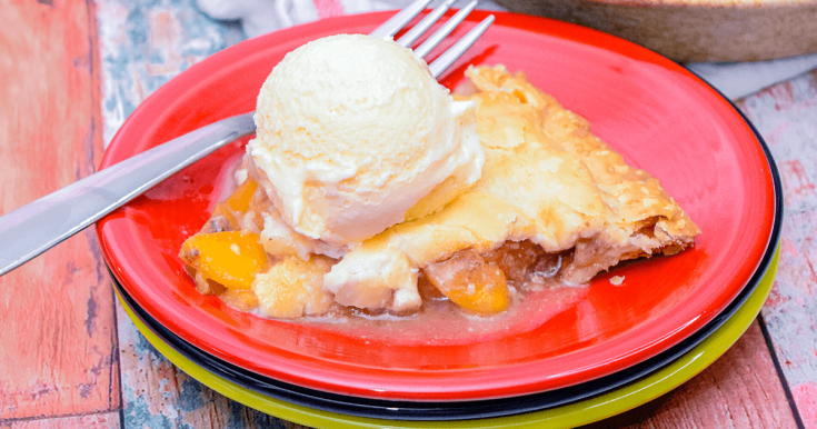 Peach Toffee Pie