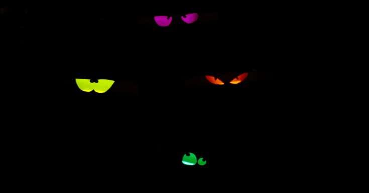 How to Make Halloween Glowing Eyes