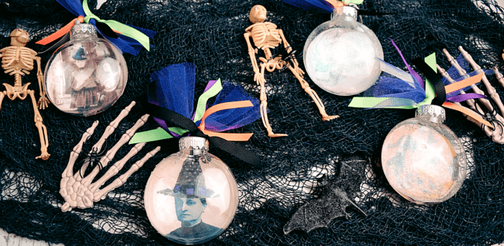 DIY Halloween Vintage Ornaments