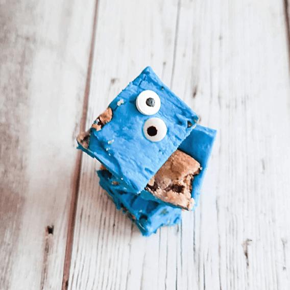 Cookie Monster Fudge squares