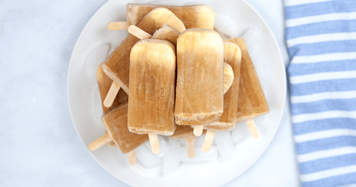 2 Ingredient Root Beer Float Popsicles