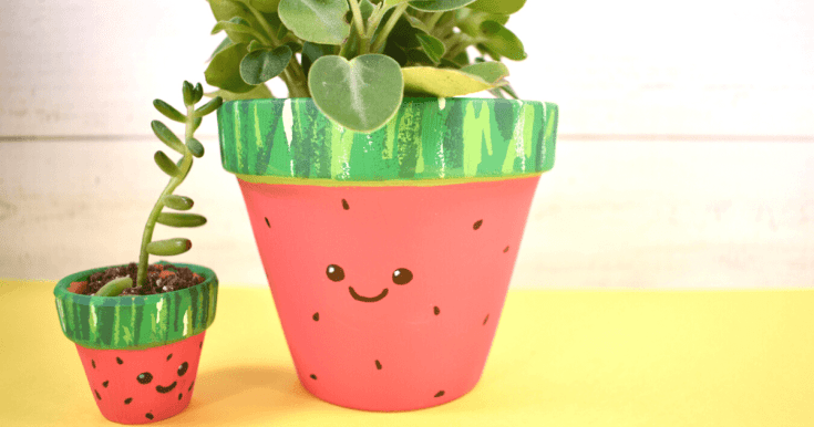 How to Paint a Watermelon Pot