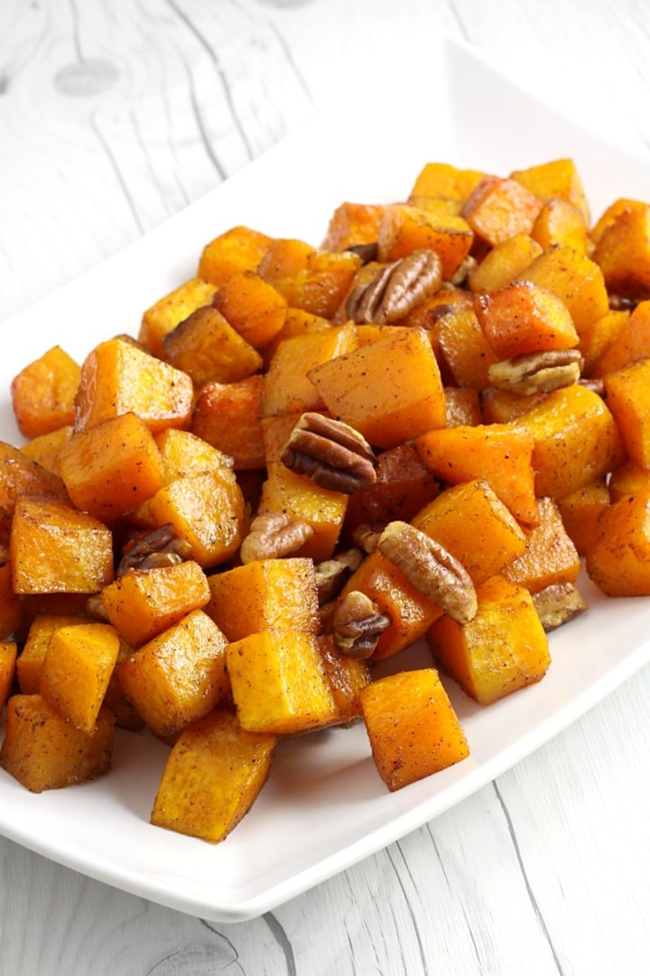Roasted Brown Sugar Pecan Butternut Squash by The Toasty Kitchen