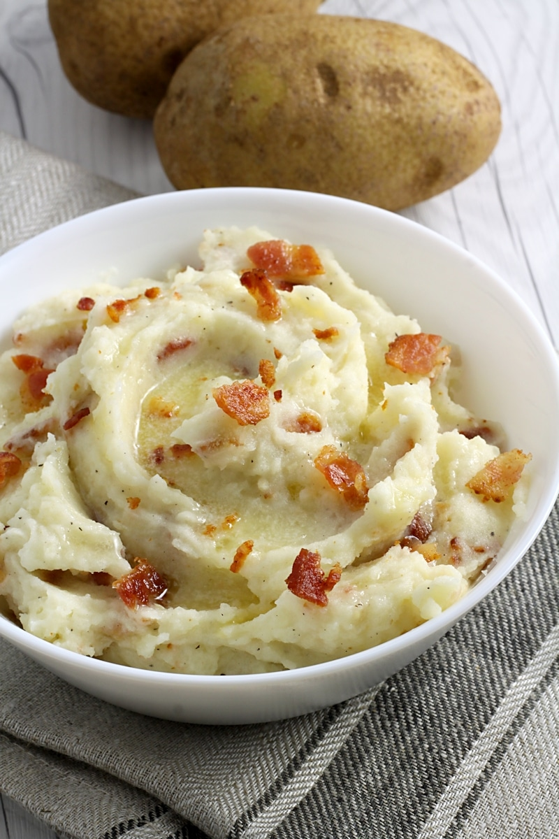 Bacon and Garlic Butter Mashed Potatoes by The Toasty Kitchen