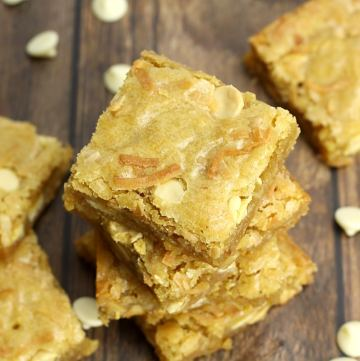 Toasted Coconut White Chocolate Blondies by The Toasty Kitchen