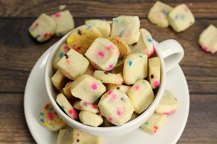 Birthday Cake Shortbread Cookie Bites by The Toasty Kitchen