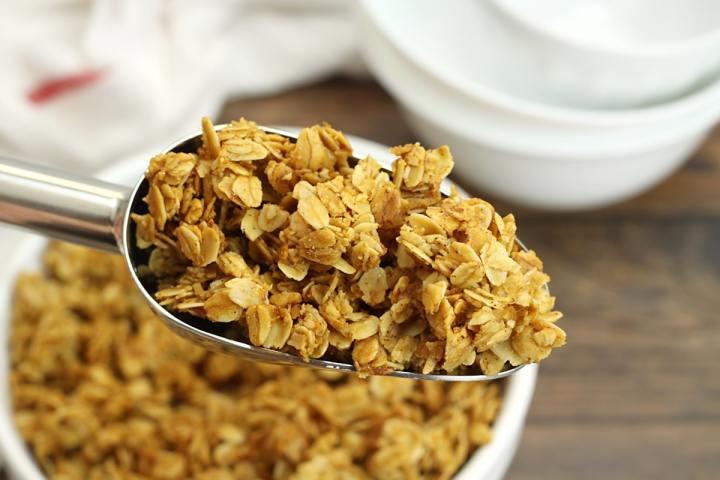 Five Ingredient Vanilla Granola by The Toasty Kitchen