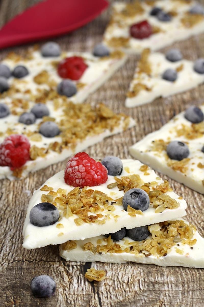 Frozen Yogurt Breakfast Bark by The Toasty Kitchen