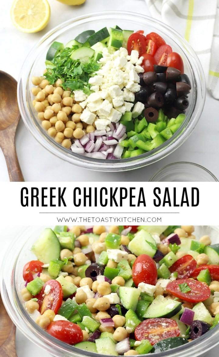 Greek Chickpea Salad by The Toasty Kitchen