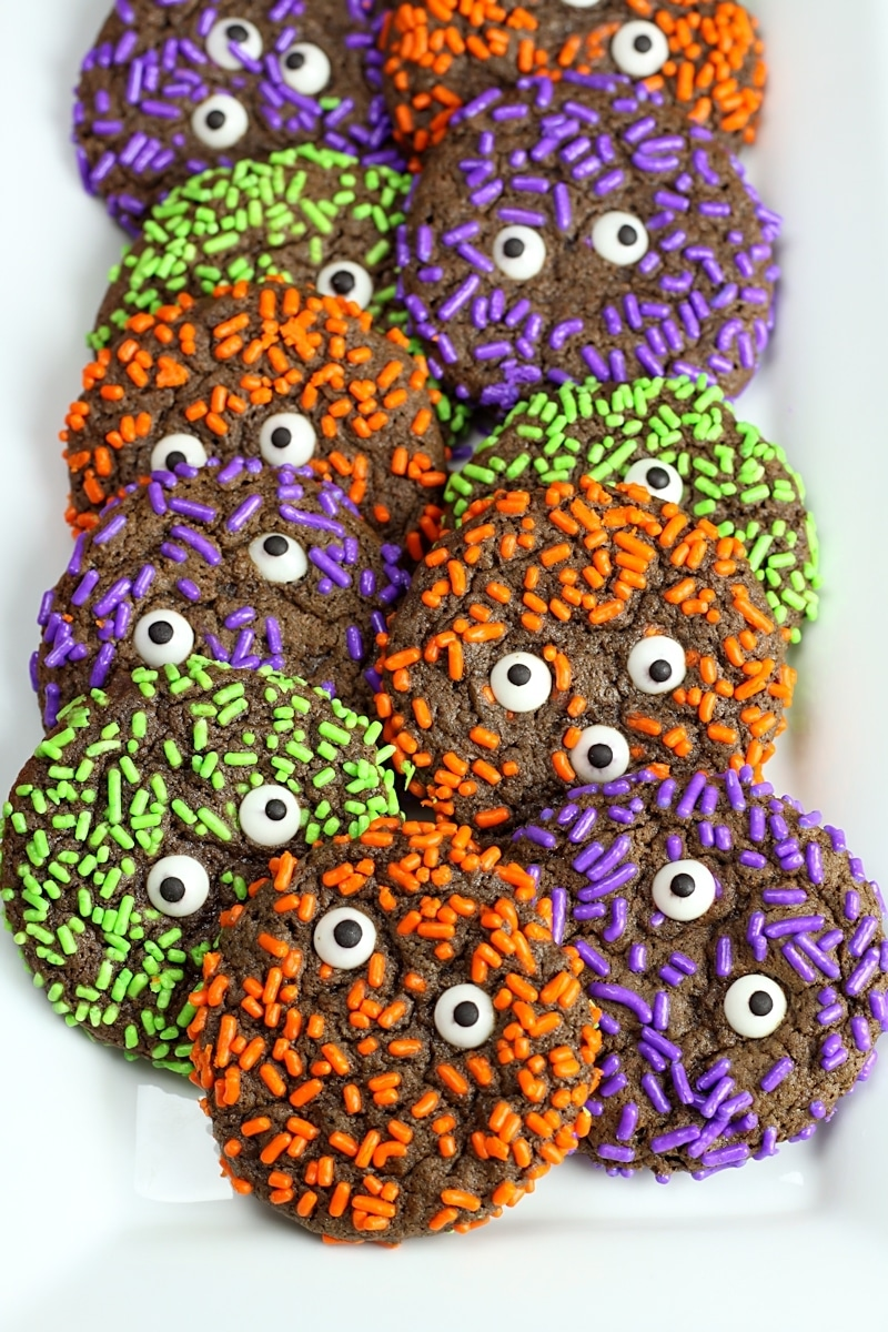 Chocolate Sprinkle Monster Cookies by The Toasty Kitchen
