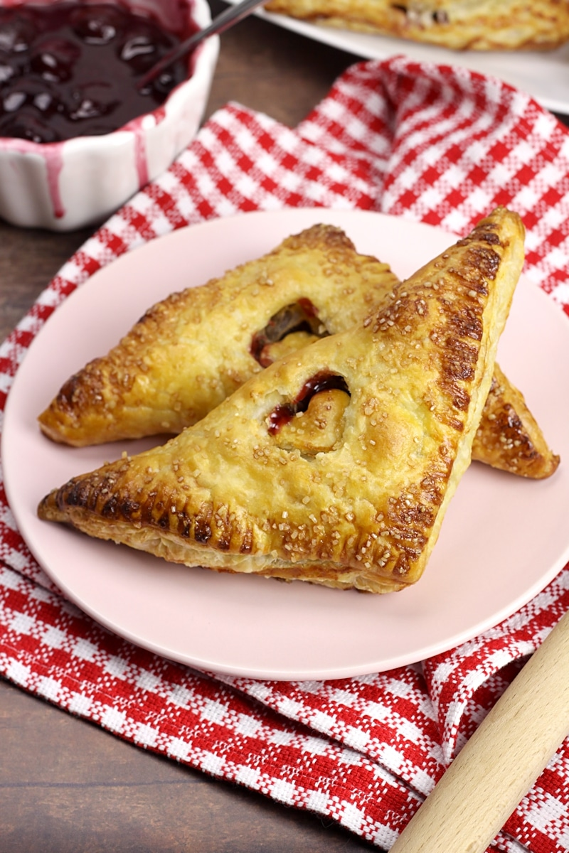 Puff Pastry Cherry Turnovers by The Toasty Kitchen
