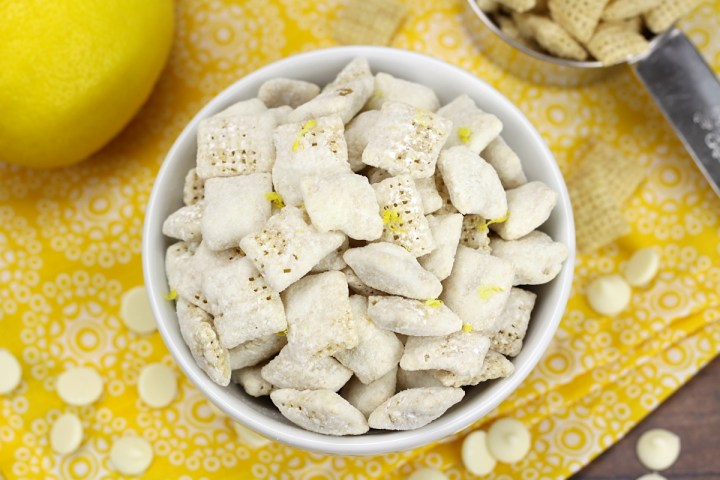 Lemon Puppy Chow Snack Mix by The Toasty Kitchen