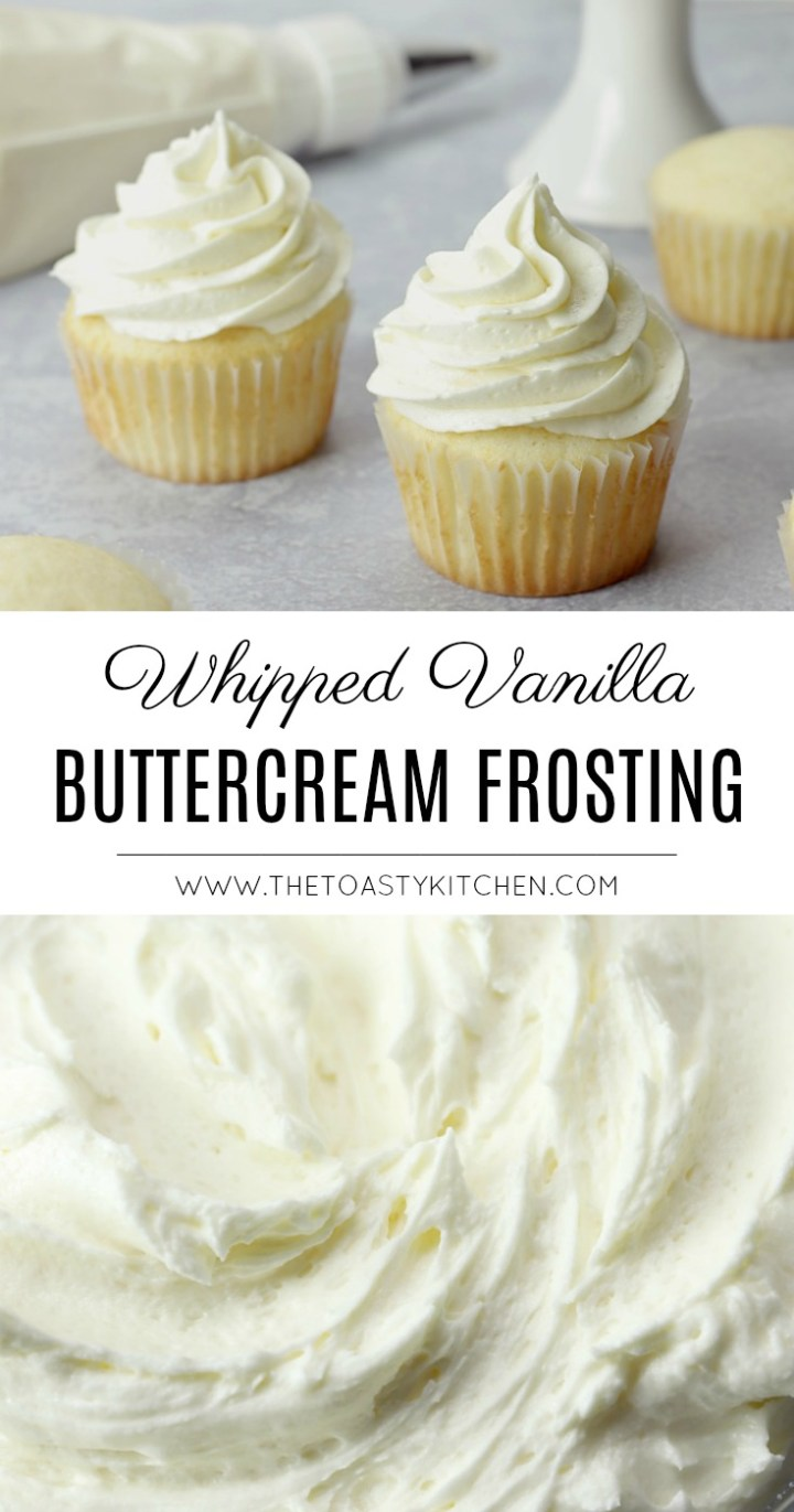 Whipped Buttercream Frosting by The Toasty Kitchen