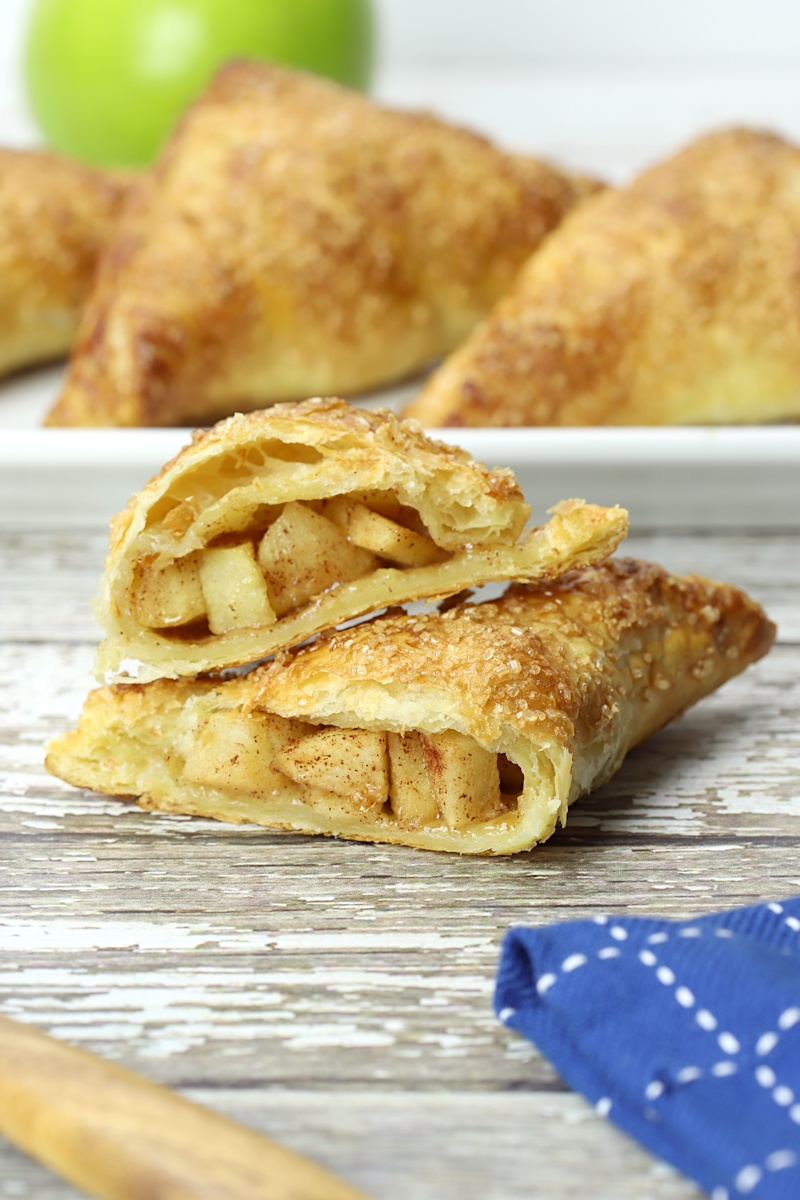 Inside of apple turnover.