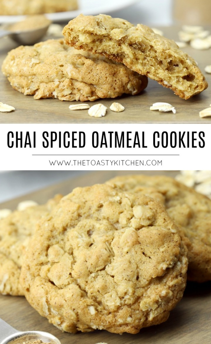 Chai Spiced Oatmeal Cookies by The Toasty Kitchen