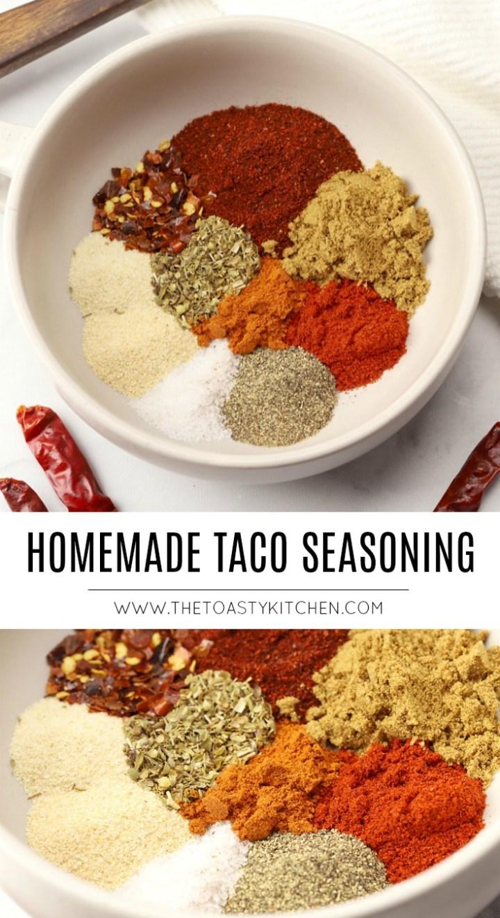 Homemade Taco Seasoning by The Toasty Kitchen