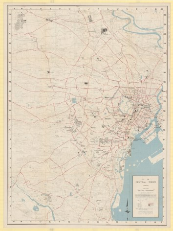 Map of central Tokyo during the Occupation, from 1948.