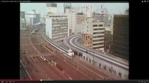 Shinkansen bullet train, Tokyo, in 1966
