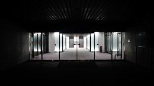 Tokyo office entrance night