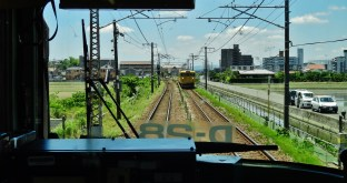Local train from Okayama to Kurashiki