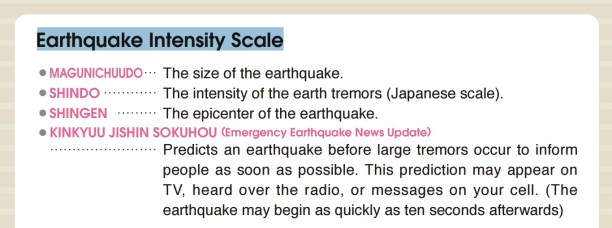 Japanese earthquake intensity scale shindo scalejpg