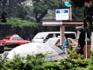 Hibiya driving rain Yurakucho 1