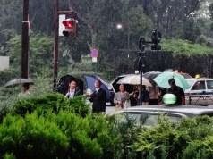 Hibiya station Imperial Hotel rain 2