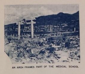 Nagasaki atomic bomb damage - Shinto torii