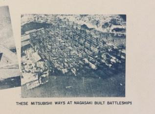 Occupation of Japan Mitsubishi Nagasaki Battleship