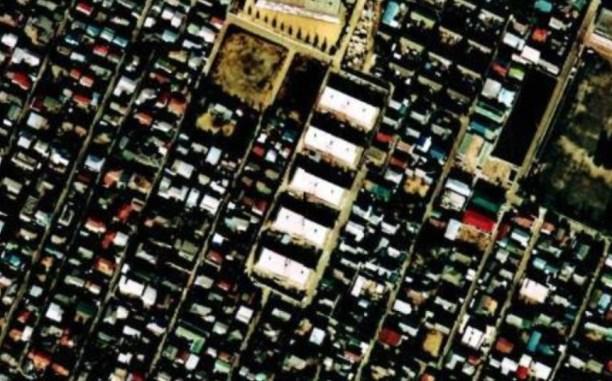 Kichijoji Kitamachi Company Housing aerial map 1974-78