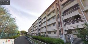UR Akabanedai danchi buildings now demolished