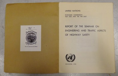 Report of the seminar on engineering and traffic aspects of highway safety title