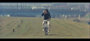The Petrified Forest 1973 riding bike on grass