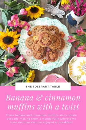 Banana and cinnamon muffins Pinterest