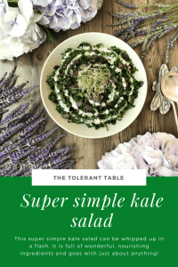 Super Simple Kale Salad Pinterest